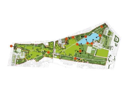 Burgess Park Image Locations Master Plan